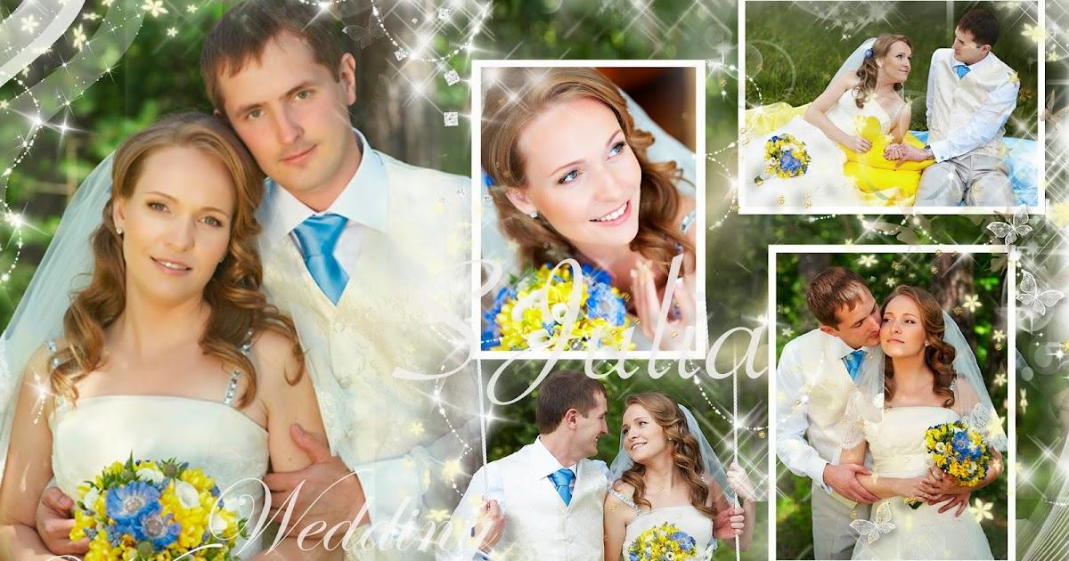 Коллаж из фото на свадьбу молодоженам