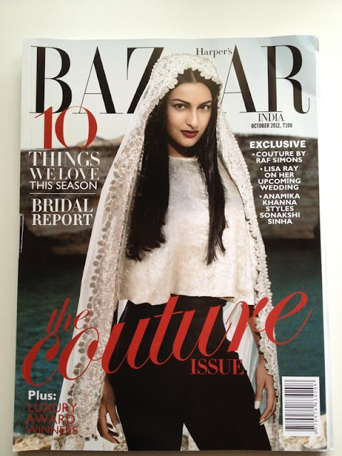 Sonakshi Sinha on the cover of Harper's Bazaar India [October 2012]