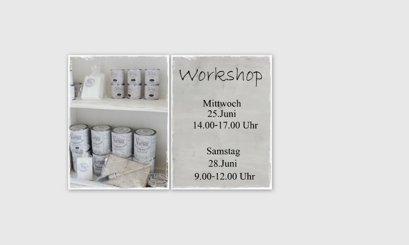 Workshop mit JDL Kreidefarbe