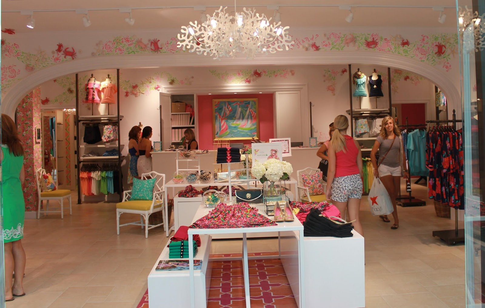 maryland pink and green lilly pulitzer towson town center