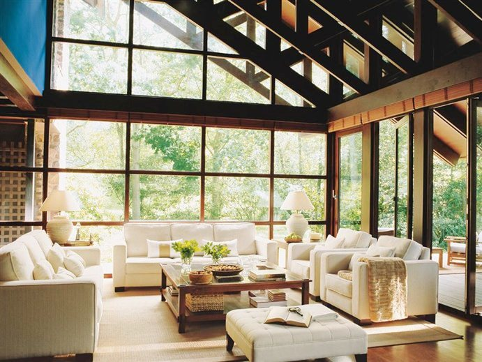 Cococozy people who live in glass houses rock for Glass living room furniture