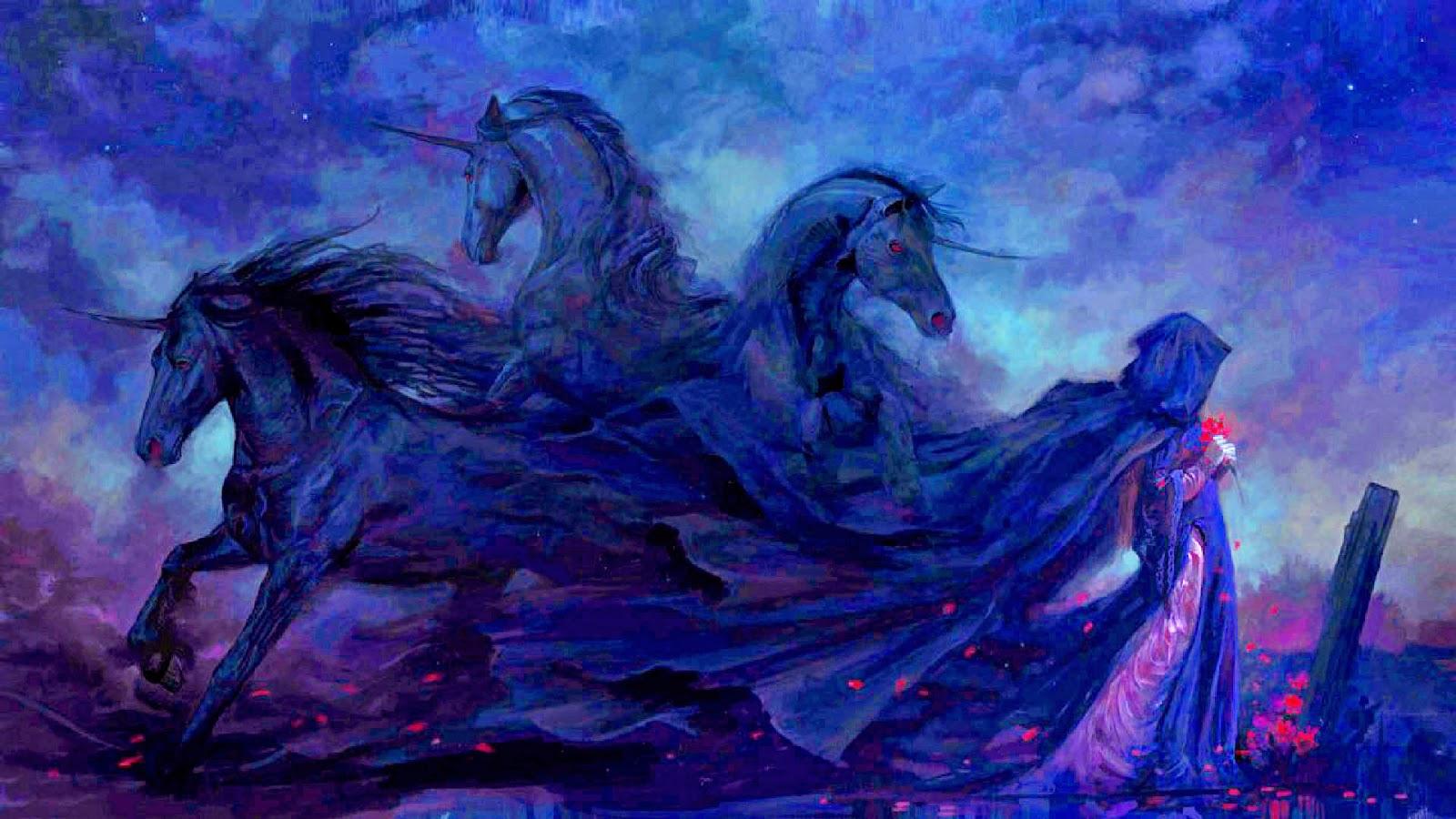 unicorns black bg theme 1920x1080 hd wallpaper jpg white unicorn