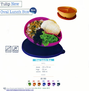 Info & Harga Twin Tulip Tulipware 2014 : Oval Lunch Box