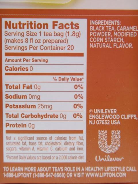 Lipton's Vanilla Caramel Truffle Black Tea