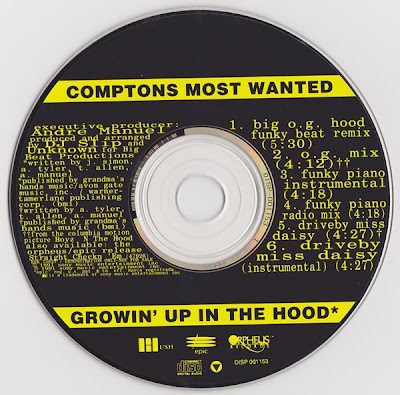 Compton's Most Wanted – Growin Up In The Hood (Promo CDS) (1991) (320 kbps)