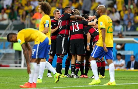 Alemanha 7 x 1 Brasil Copa do Mundo de 2014