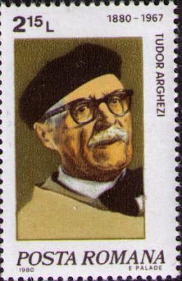 Tudor Arghezi postal stamp , timbru postal