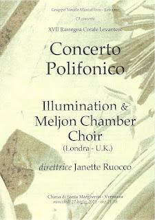 Concert flyer for Vernazza 2011