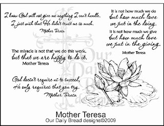 Our Daily Bread Designs Stamps - Mother Teresa