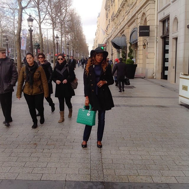 Nollywood Fashionista Chika Ike Holidays in Paris – Photos