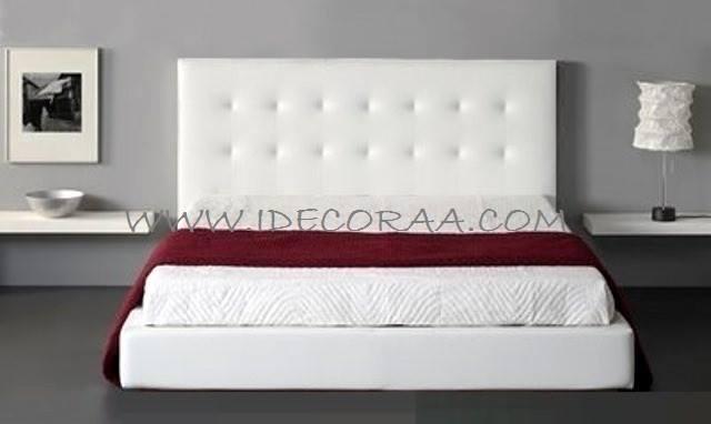 Idecoraa cama tapizada modelo 3 for Cabeceras de cama con tarimas