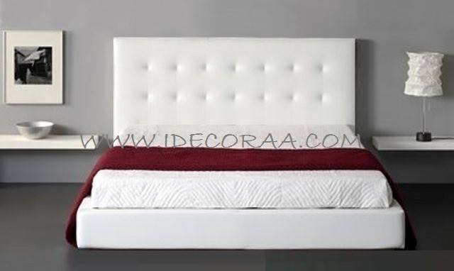 Idecoraa cama tapizada modelo 3 - Modelos de cabeceras de cama ...
