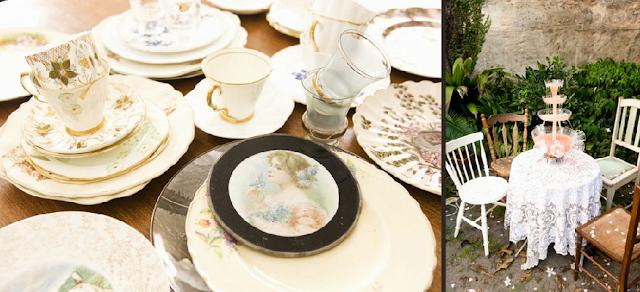 vajillas de porcelana vintage