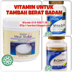 VITAMIN UNTUK TAMBAH BERAT BADAN
