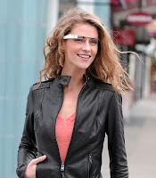 Cool girl with Google glass