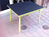 Lime Green Chalkboard Childs Table $59 Size 22x30x24