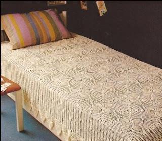 "Sobrecama ""Intimidad"" a Crochet"