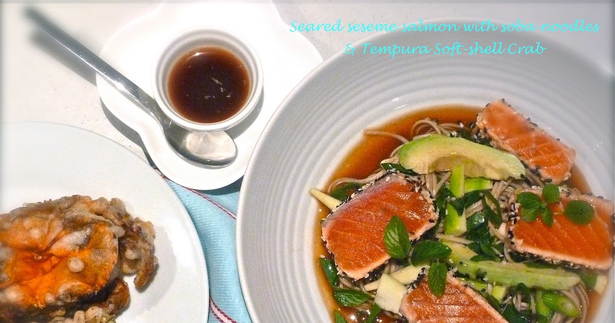 Helena's Kitchen: Seared Sesemes Salmon with Soba Noodles ...