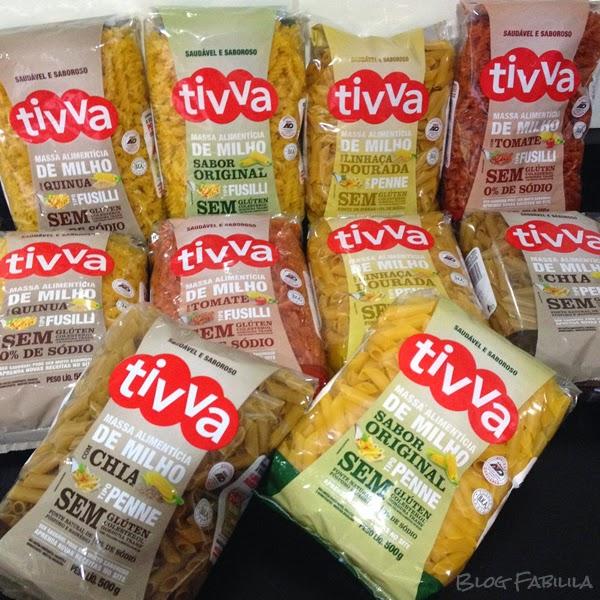 Linha de Produtos Tivva - macarrão sem gluten