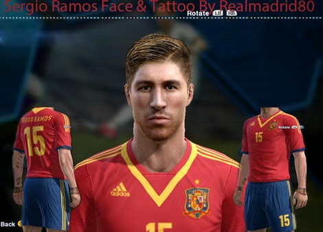 PES 2013 New Face Sergio Ramos by R.P.M - PES Patch