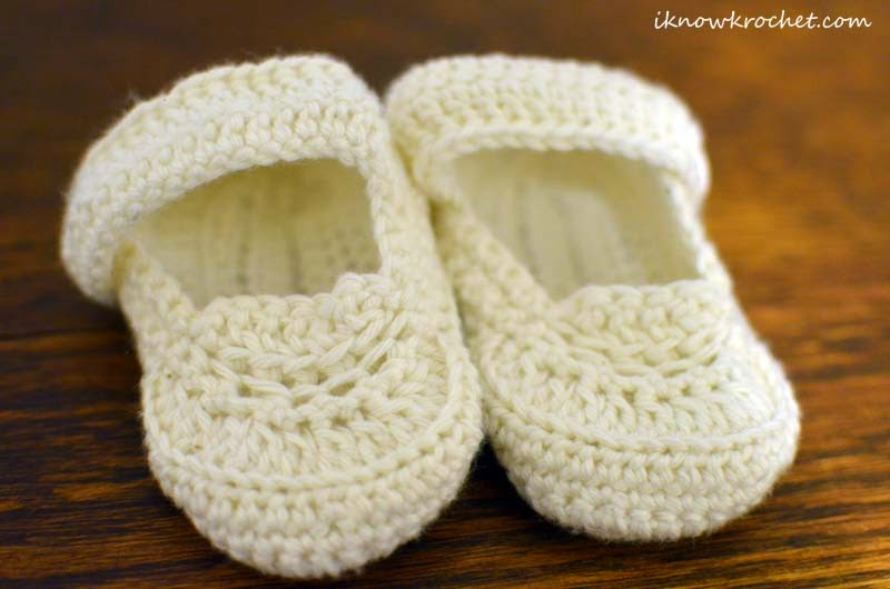 crochet baptism boy booties