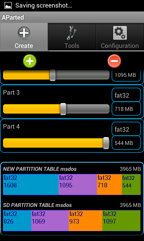 Android Partition Aparted Android