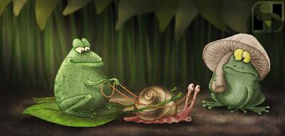 frog, snail, sayantan halder