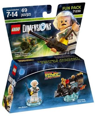 JUGUETES - LEGO Dimenions  71230 Back to the Future : Fun Pack | Regreso al Futuro  Doc Brown & Traveling Time Train | Tren  Figura | Toys & Videojuegos | 2016  Piezas: 69 | Edad: 7-14 años  Comprar en Amazon.es | Buy Amazon.com