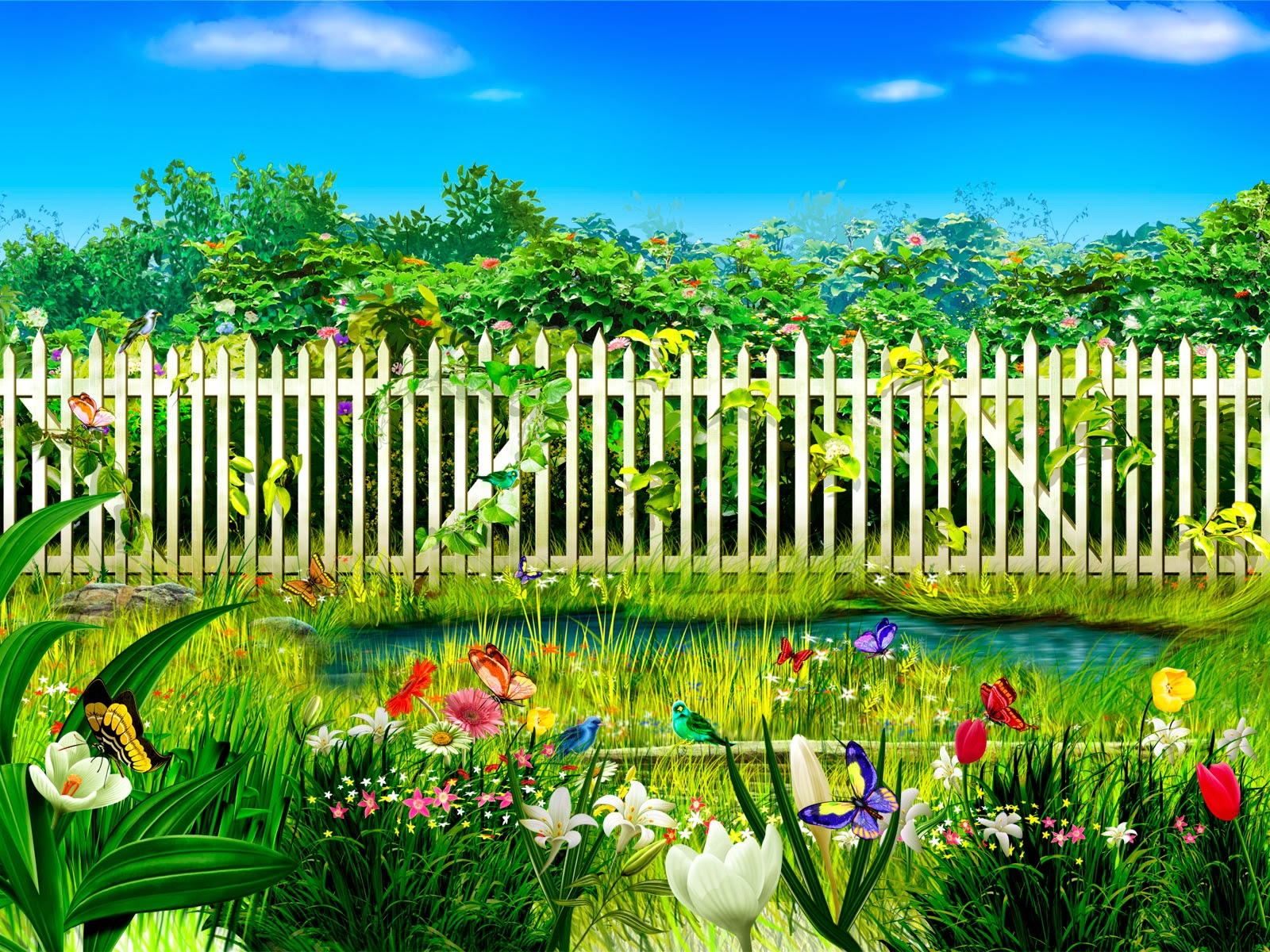Marvelous Flower Garden Wallpaper Free Download