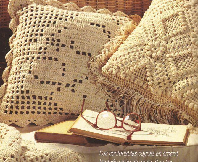 Cojines Hermosos a Crochet