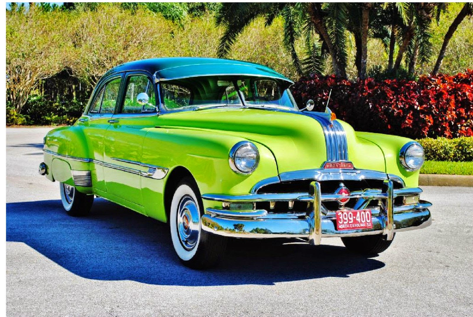 all american classic cars 1952 pontiac chieftain deluxe 4 door sedan. Black Bedroom Furniture Sets. Home Design Ideas