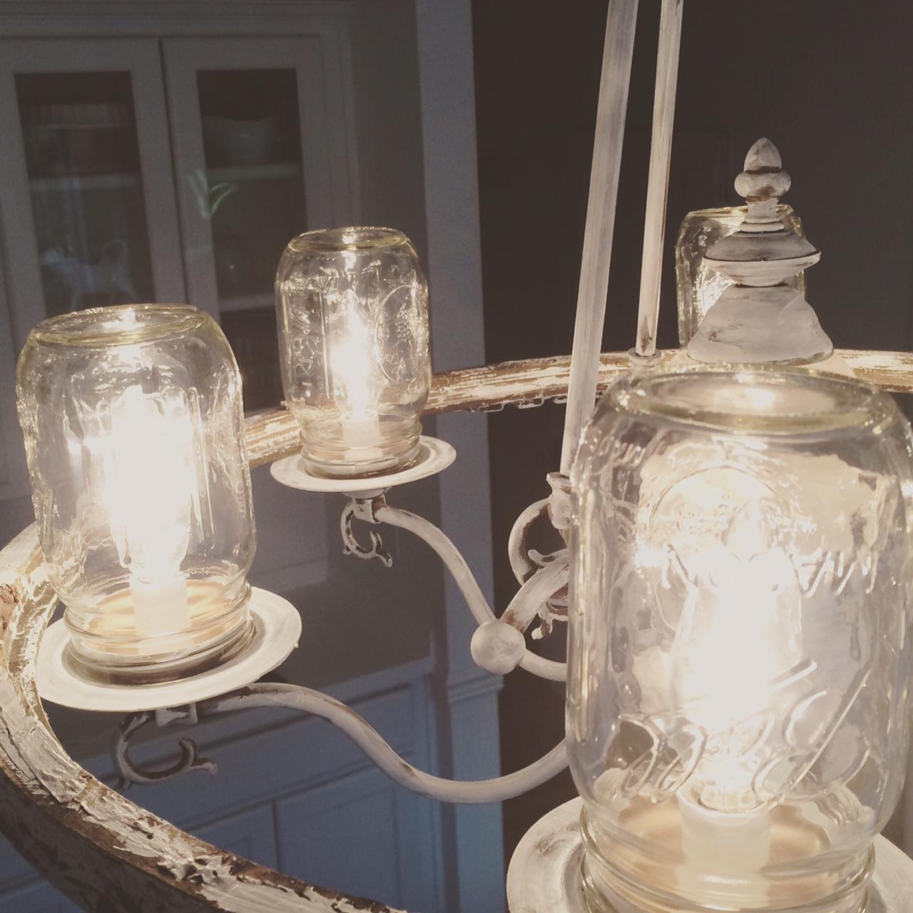 Mason Jar Chandelier: Little Farmstead: A Mason Jar Chandelier Makeover