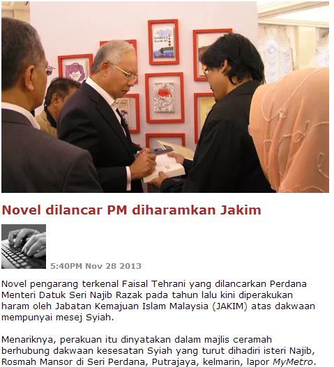 Dato Seri Najib Razak Lancar Novel Syiah?!