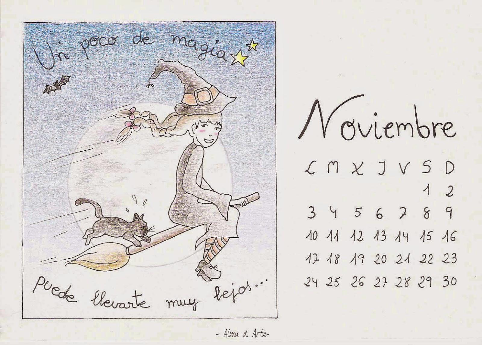Calendario de noviembre 2014 para descargar gratis