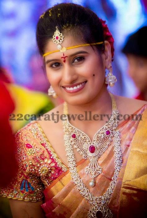 Bride in Regal Diamond Jewelry