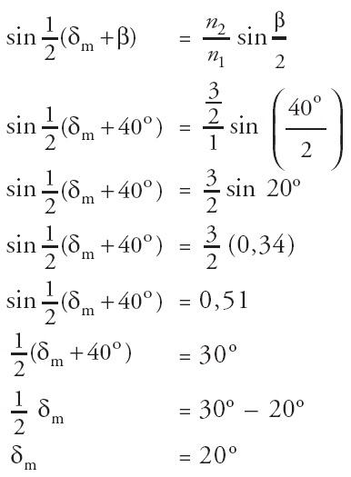 sudut deviasi minimum prisma