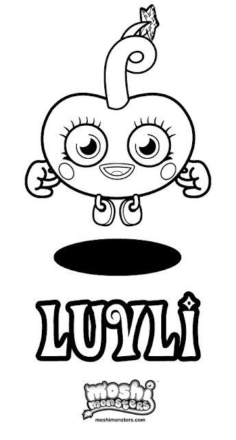 Moshi Monsters Coloring Pages - Katsuma - Luvli