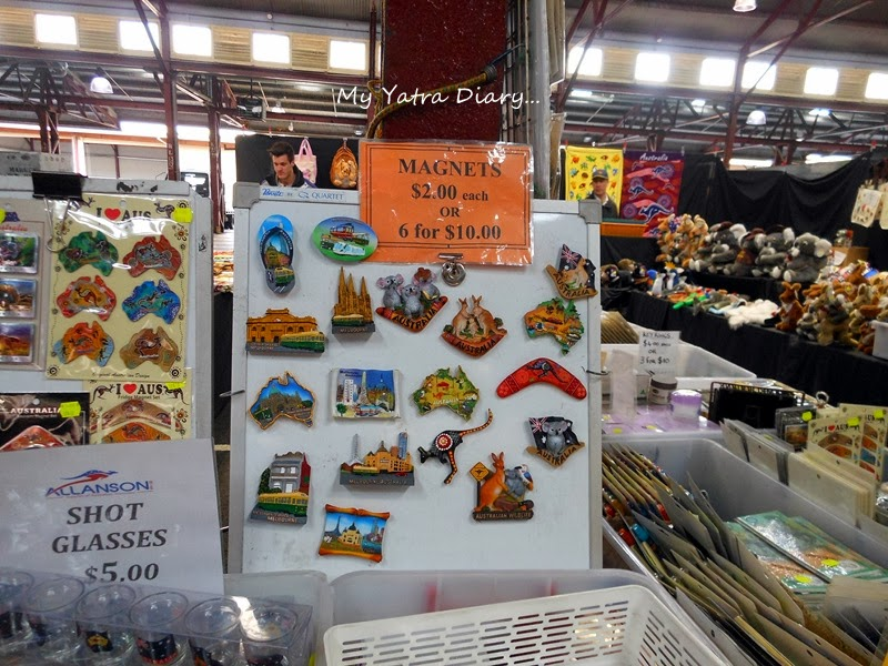 Fridge magnet souvenirs in Queen Victoria Market, Melbourne