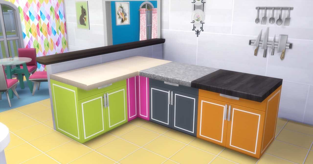 My Sims 4 Blog Cool Kitchen Stuff Counters In 44 Recolors