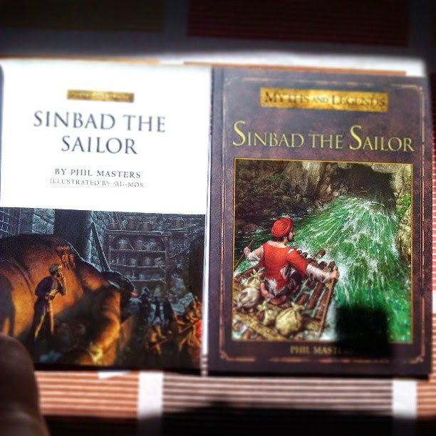Cover of book of Sinbad the Sailor, wrote by Phil Masters and illustrated by ªRU-MOR for OSPREY Publishing, colection Myths and Legends, fantasy historical