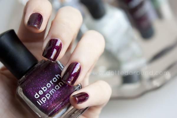 Deborah Lippmann swatches good girl gone bad