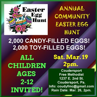 3-19 Easter Egg Hunt, Coudersport