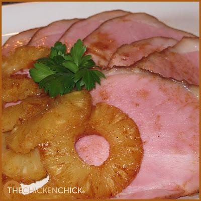 Autumn Spiced Pineapple Glazed Ham  Recipe