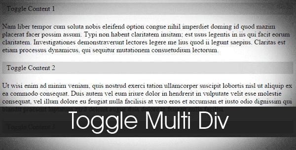 Membuat Toggle Multi Div Content Di Postingan Blog