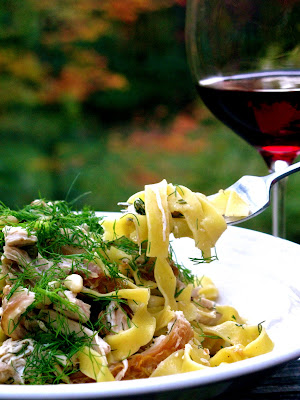 ... Wine: Venetian Tagliatelle with Roasted Chicken, Fennel & Pine Nuts