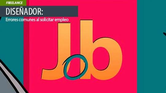 Diseñador: Errores comunes al solicitar empleo