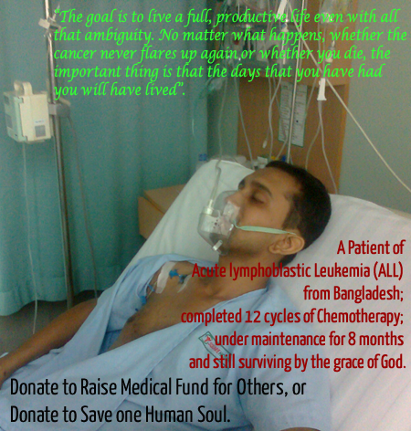 A cancer patient needs medical fund