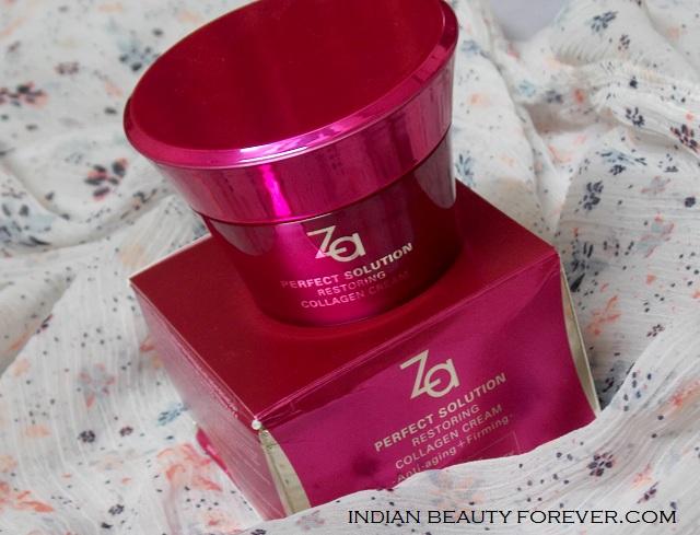 Za Perfect Solution Restoring Collagen Cream Review