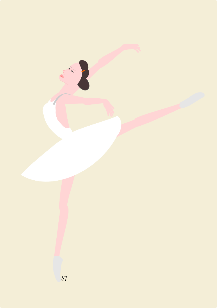 ballerina flower card