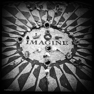 John Lennon, Imagine monument at Strawberry Fields in Central Park, New York City